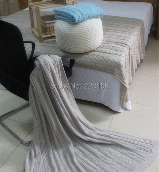 127*152cm 100% cotton yarn blanket sofa blanket cool summer blanket air conditioning blanket cape decoration carpet small twist