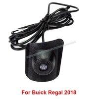 Otomobiller ve Motosikletler'ten Araç Kamerası'de Su geçirmez CCD HD araç ön görüş kamerası yüklü taraflı en araba logosu Buick Regal için Larcosse Encore 2016 2017 2018