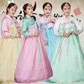 Top + Saia Mulheres Coréia Do Vestido Tradicional Hanbok Coreano Tribunal Natioanal Antiga Hanbok Traje de Casamento Coréia do Sexo Feminino Roupas 89