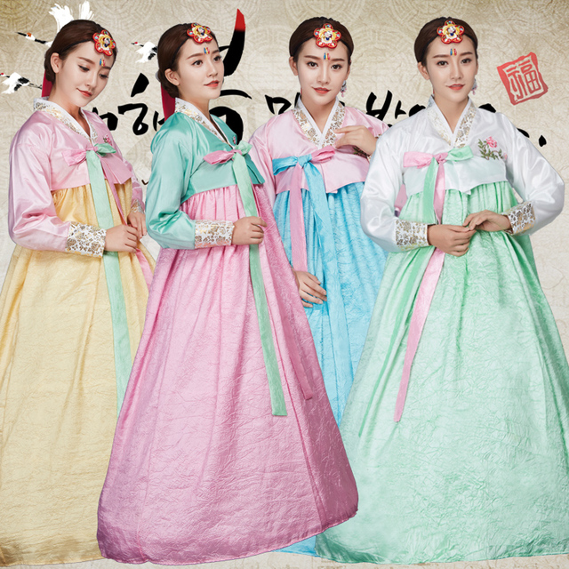 333360832 Top+Skirt Women Traditional Korean Hanbok Dress Korea Court Wedding Costume  Female Korea Ancient Natioanal Hanbok Clothing 89