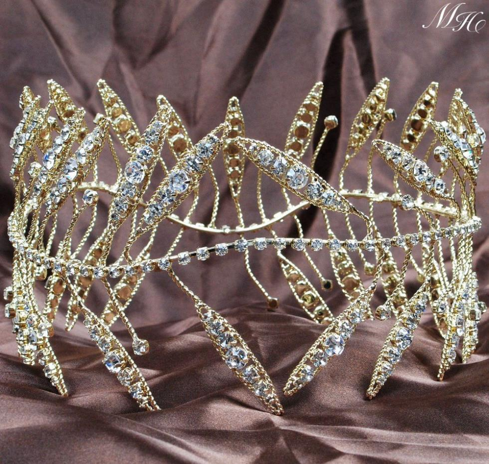 Ancient Greek Wreath Tiaras Crowns 4 Rhinestones Crystal