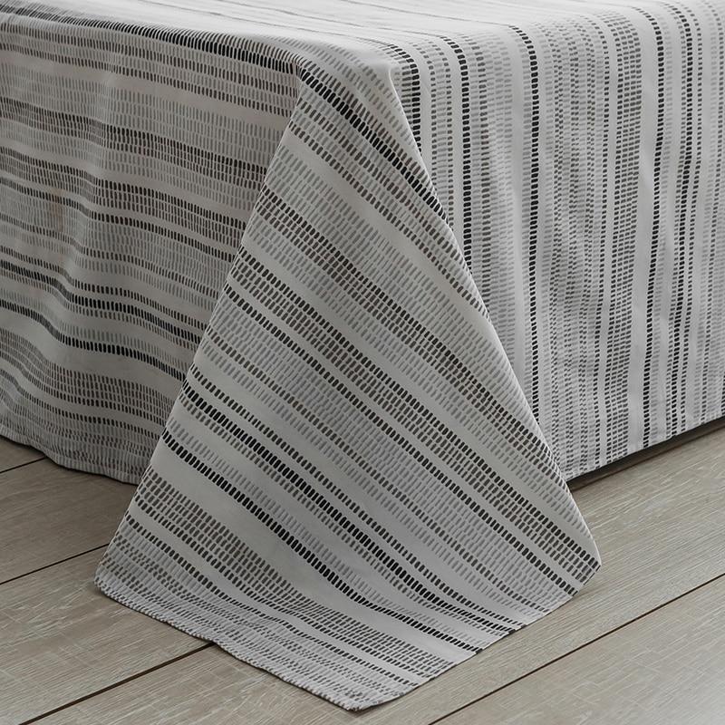 Schwarz grau plaid Bettwäsche Sets 100% baumwolle Bettwäsche Bettwäsche Bettlaken/ausgestattet blatt Kissenbezug/bett Sets königin könig größe 4 stücke - 3