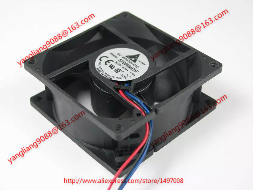 Free Shipping For DELTA EFB0824EHF, -T8SA DC 24V 0.35A 3-wire 3-pin connector 80mm 80X80X32mm Server Square Cooling fan free shipping for delta afc0612db 9j10r dc 12v 0 45a 60x60x15mm 60mm 3 wire 3 pin connector server square fan