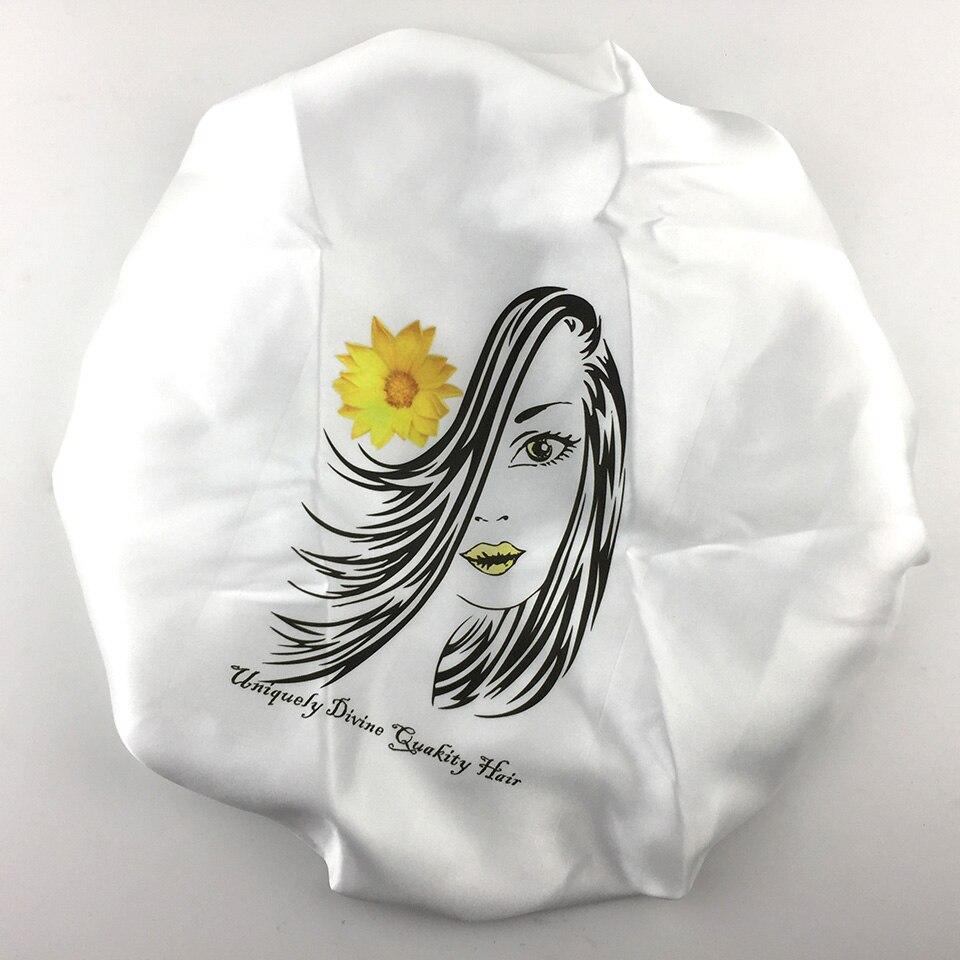 Luksusowa marka projekt virgin przedłużanie włosów dropshipping zaakceptować OEM ODM peruki z włosów snu satyna jedwab maski