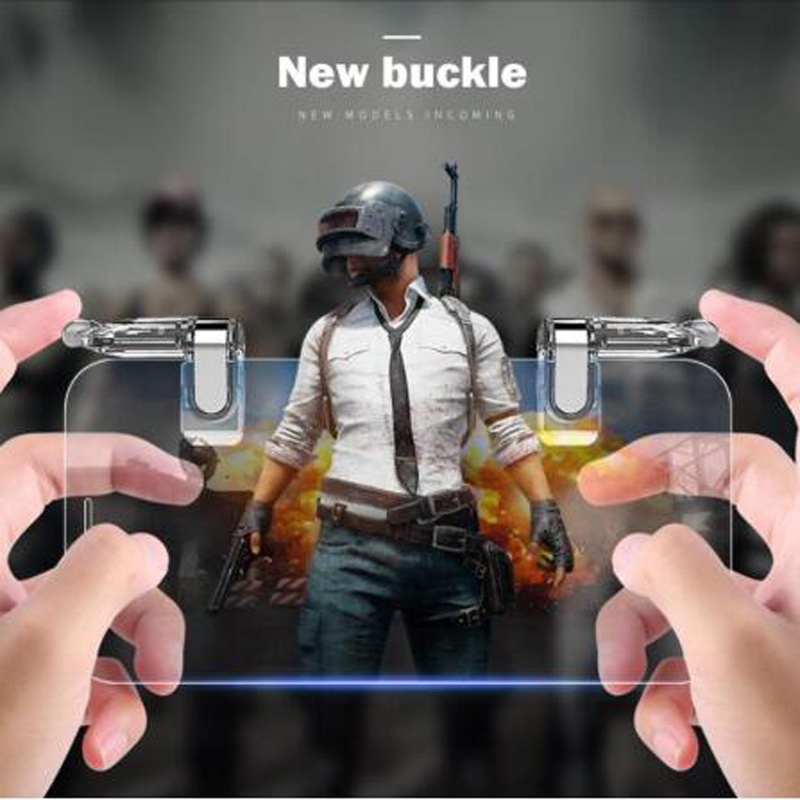 Metal Smart Phone Mobile Game trigger For PUBG Mobile Game Controller L1R1 Joystick Fire Button For iphone Android Smartphone in Gamepads from Consumer Electronics