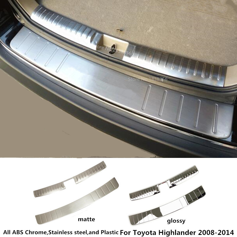 for Toyota Highlander 2008 2009 2010 2011 2012 2013 2014 car Stainless Steel inner+outside Rear bumper trim plate trunk pedal стоимость