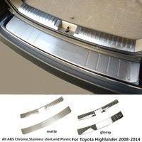 for Toyota Highlander 2008 2009 2010 2011 2012 2013 2014 car Stainless Steel inner+outside Rear bumper trim plate trunk pedal