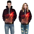 2016 Women Men Galaxy 3D Print Jumpers Sweatshirt Outfit Casual Hoodies Red Blue Cool Northern Lights Jacket Dropship 2 Patterns