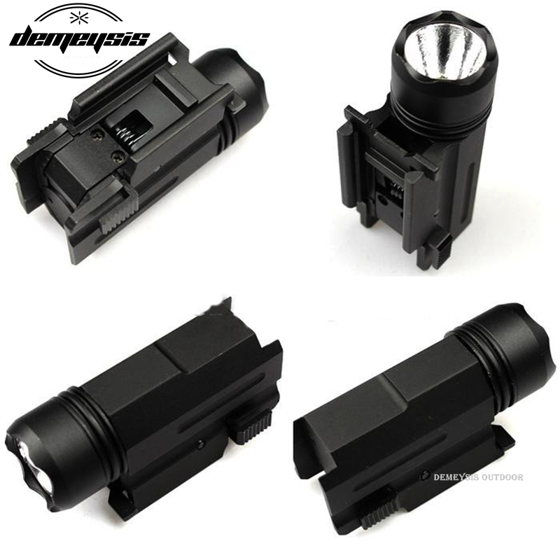 Escopeta LED Rifle Glock Gun Flash Light Tactical Torch Linterna con lanzamiento 20 mm de montaje para pistola Airsoft