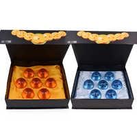 Dragon Ball 7pcs 3.5CM Resin Dragon Ball Z 7 Stars Anime Action Figures Crystal Balls Collection PVC Toys With Gift Retail Box