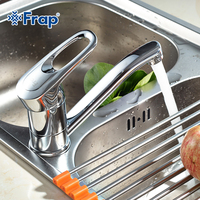Free Shipping Frap Single Handle Kitchen Faucet 360 Rotating Chrome Finished F4504 F4503 F4556 F4563