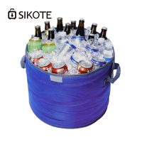 SIKOTE Oxford Cooler Bags Foldable Ice Barrel Waterproof Insulation Barrel Cooler Box Bag Shrinkable Thermal Bags for Wine