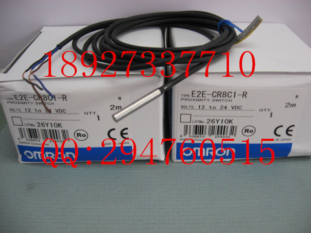 [ZOB] 100% new original OMRON Omron proximity switch E2E-CR8C1-R 2M e2ec c1r5d1 e2ec c3d1 new and original omron proximity sensor proximity switch 12 24vdc 2m