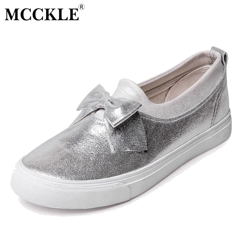 MCCKLE 2017 New Fashion Women Shoes Flat Woman Round Toe Platform Bowtie Sequined Cloth Black Ladies Casual Comfortable Spring plus size 34 43 new platform flat shoes woman spring summer sweet casual women flats bowtie ladies party wedding shoes