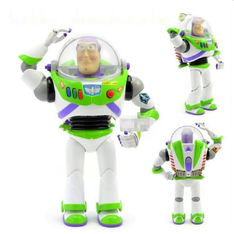 2019 New Toy Story 3 Talking Buzz Lightyear Toys Lights Voices Speak English Joint Movable Action Figures Children Gift toy2019 New Toy Story 3 Talking Buzz Lightyear Toys Lights Voices Speak English Joint Movable Action Figures Children Gift toy