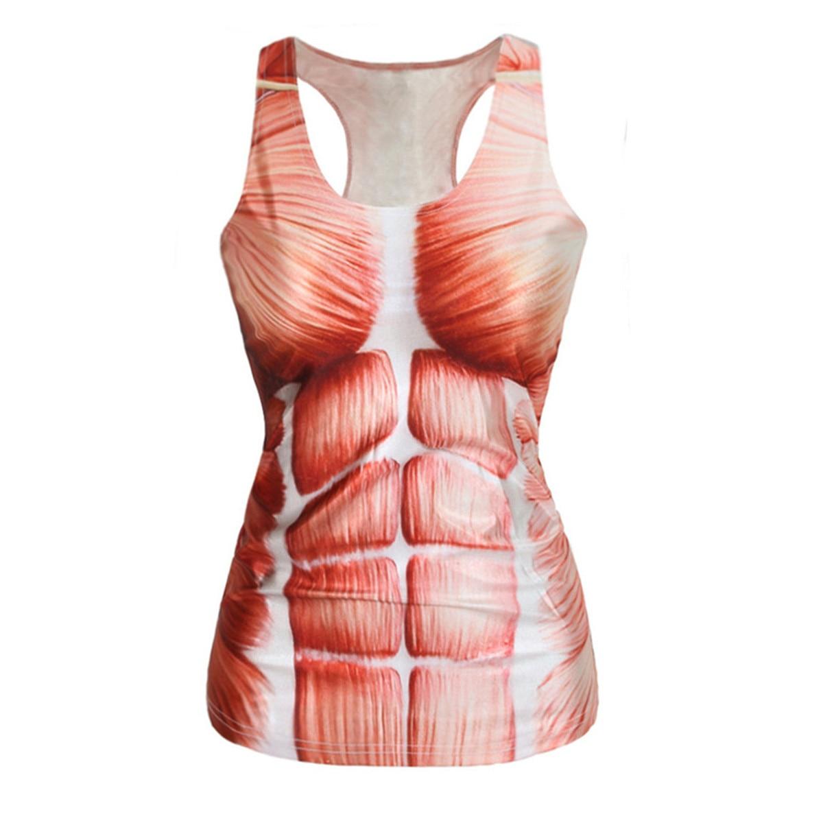 Najbolje obrezane za ženske gojite žensko moralno raztegljivo majico s srčnimi mišicami vzorec digitalni tisk ženski telovnik