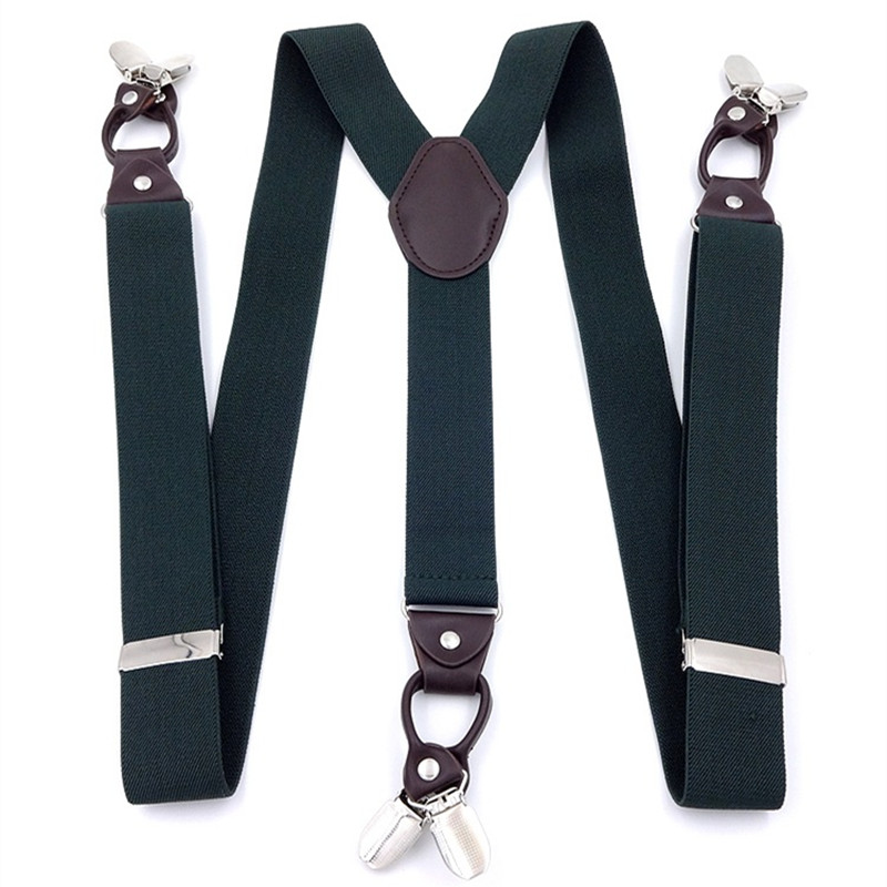 OnnPnnQ Men Fashion 6 Clips Large Size Suspenders High Quality Personality Adjust Braces Wedding Daily Suapenders For Father Men