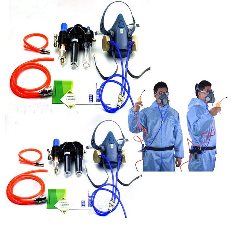 Funzione del settore Ad Aria In Dotazione Fed Sistema Per 3 M 7502 Mezza Faccia Respiratore Respiratore Maschera AntigasFunzione del settore Ad Aria In Dotazione Fed Sistema Per 3 M 7502 Mezza Faccia Respiratore Respiratore Maschera Antigas