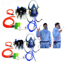 Industry Function Supplied Air Fed Respirator System For 3 M 7502 Half Face Respirator Gas Mask