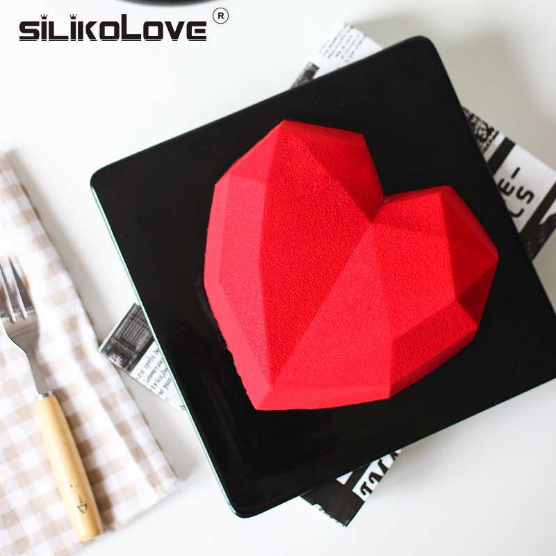 SILIKOLOVE 8 полости 3D Мини Любовь Сердце в форме бриллианта силиконовые формы для украшения торта формы мыла FDA/CIQ экологически чистые