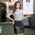 Humiture stylish  Lady genuine  Leather skirt, fashion skirt 7732