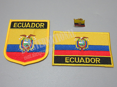 Nice National Flag Embroidery Patches And Metal Flag Lapel Pin ECUADOR In  Patches From Home U0026 Garden On Aliexpress.com | Alibaba Group