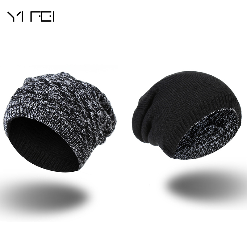 2017 Winter Men's Skullies Gorro Brand Beanie Plus Velvet Hip-hop Hat Knitted Caps Boy Hats Beanies For Men Bonnet Touca Inverno 2016 limited gorro gorros brand new women s cotton hip hop ring warm beanie cap winter autumn knitted hats beanies free shipping
