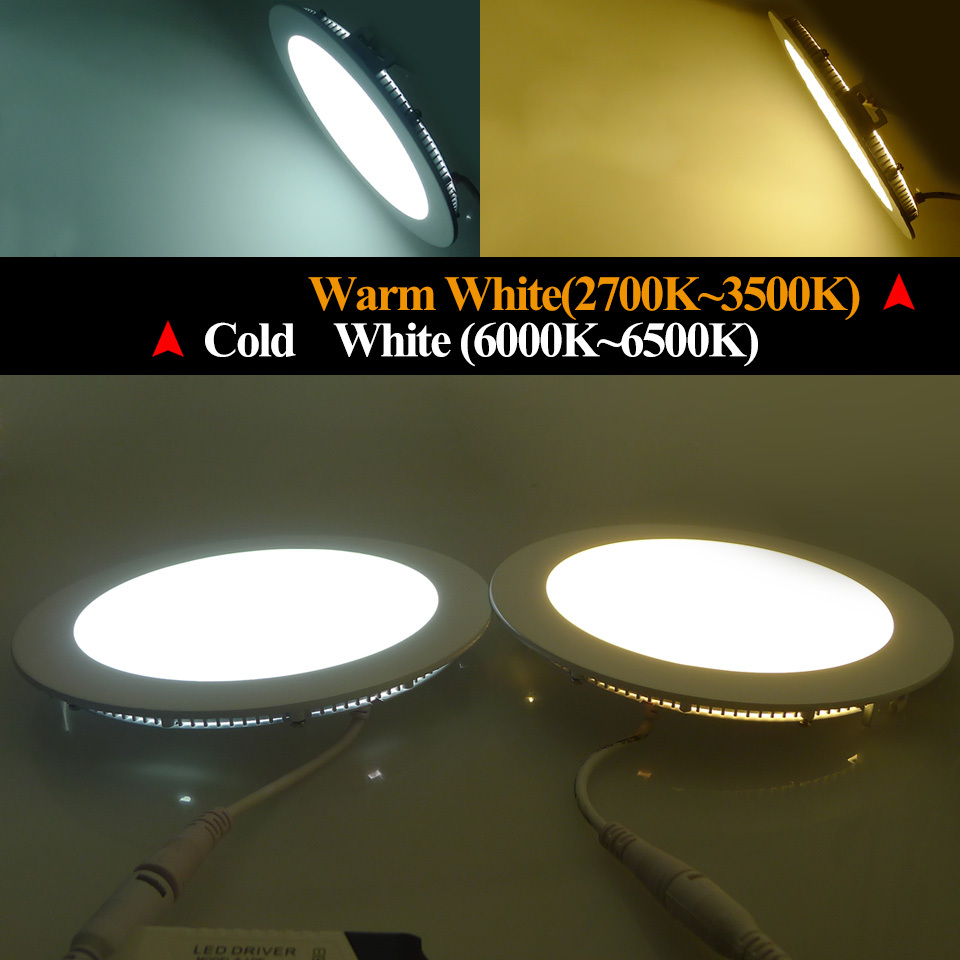 Ultra Thin Led Panel Downlight 3w 4w 6w 9w 12w 15w 18w