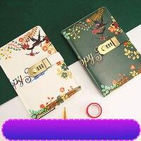 Cuaderno creativo con contraseña con agenda  libro de mano multifuncional  libro de papelería Notepa Cuadernos     -