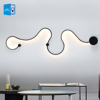 Modern Wall Lamps for bedroom study living balcony room Acrylic home deco in White black iron body sconce led lights Fixtures