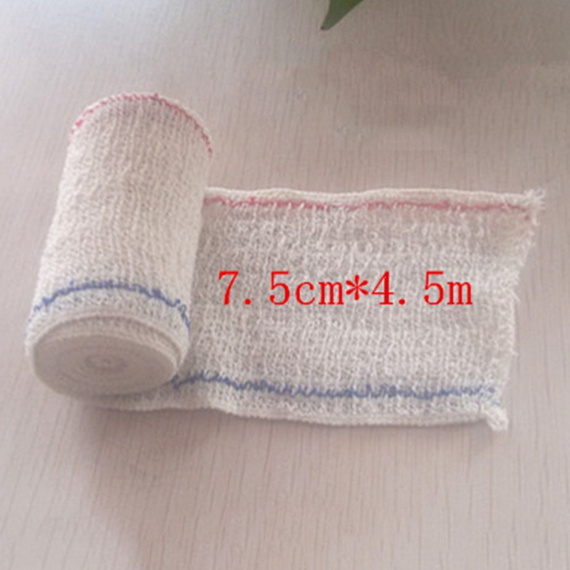 7.5CM X 4.5M Elastic Spandex Bandage Medical Wrinkle Cotton Bandage First Aid Kit Accessories Outdoor Survial Tool
