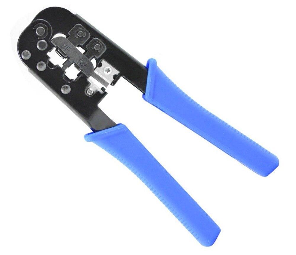 Rj-11/rj-12/rj-45 blau Streng Neues Netzwerk Lan-kabel Zangen Ratsche Crimpzange Für/6 P/8 P