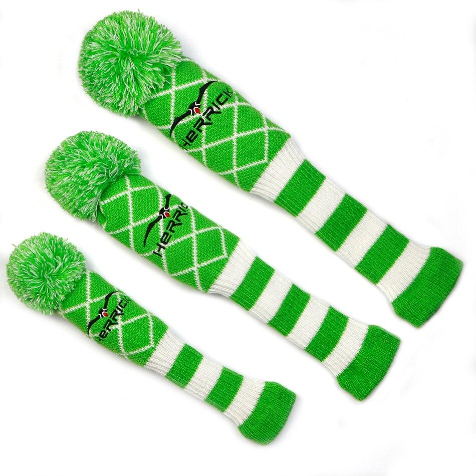 Golf Knit Wool headcover 3pcs/set