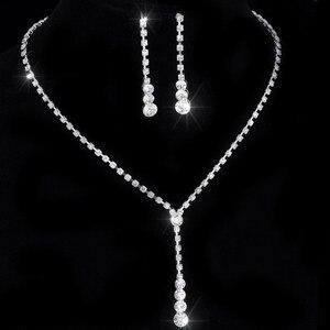 Crystal Tennis Drop Necklace S