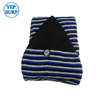 Protective Bag Surf sock Surfing Stretch Terry Sock Cover 6ft6 Black,White With Blue color