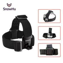цена на High quality Adjustable Elastic Head Belt Strap Mount For Gopro Hero 4 3+2 SJCAM Sj4050 Xiaomi Yi Action Camera Accessories GP23