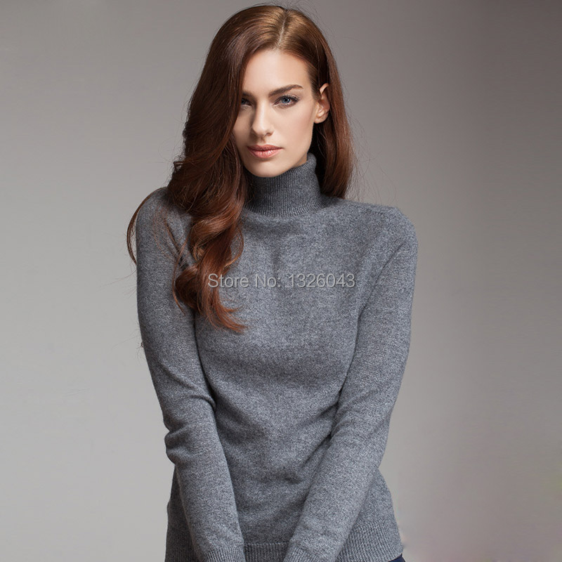 Women winter thick warm turtleneck sweater 2015 women fashion 100 ...
