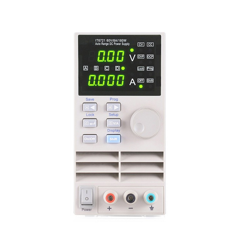 Free Shipping High Accuracy Adjustable Digital DC Power Supply 10mV/1mA 60V/8A/180W Electric Laboratory Power Instrument Meter