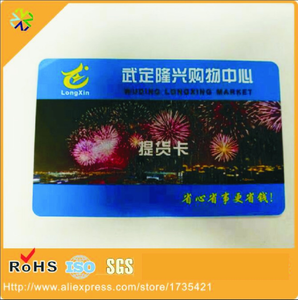 CMYK offset printing metallic membership VIP card printer magnetic stripe pvc plastic card цена и фото