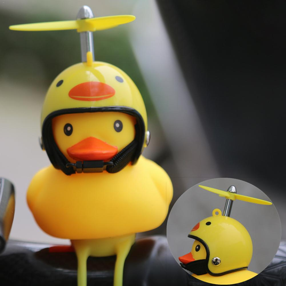 New Arrvials Bike Horn Bicycle Lights Bell Lovely Cute Duck Squeeze Helmet Electric Car Horn Lamp For Children Adults
