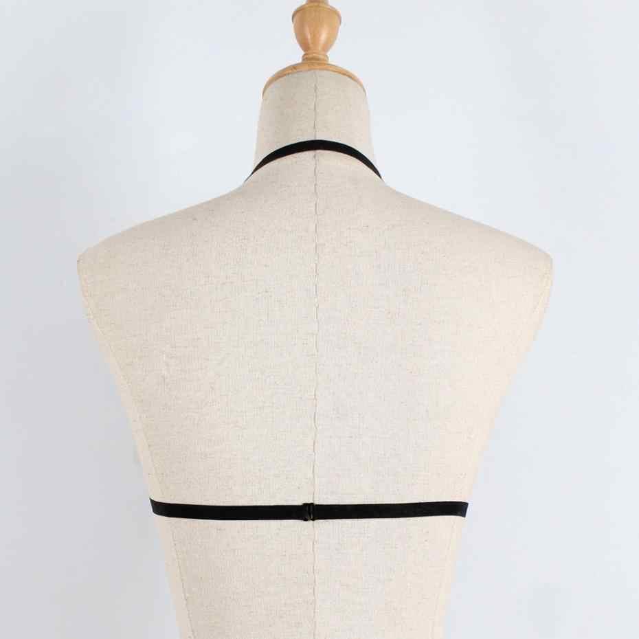 KLVผู้หญิงชุดชั้นในเซ็กซี่ชุดชั้นในเร้าอารมณ์Bra StrappyเปิดBraชุดชั้นในรัดตัวGothic Bondageชุดชั้นในGarterชุดชั้นใน