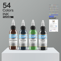 54 Colors Professional Tattoo Ink Set Permanent Microblading Pigment Kit Tattoo & Body Art Supplies 1 Oz(30ML)/Bottle