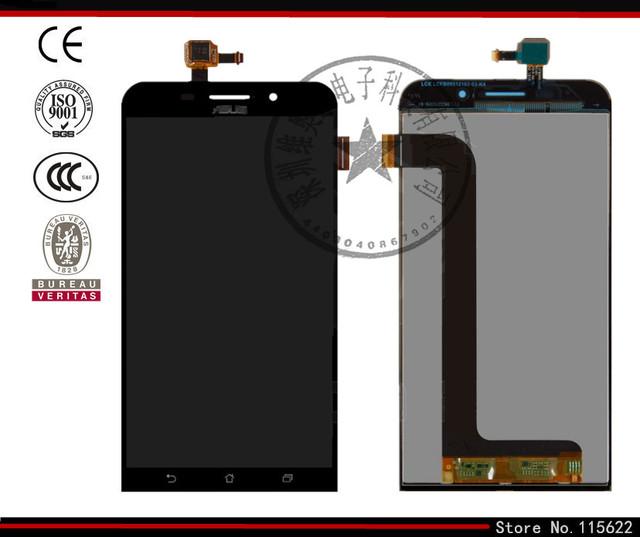 Tela lcd para asus zenfone max (zc550kl) telefone celular, (preto, branco com tela sensível ao toque, com logotipo)