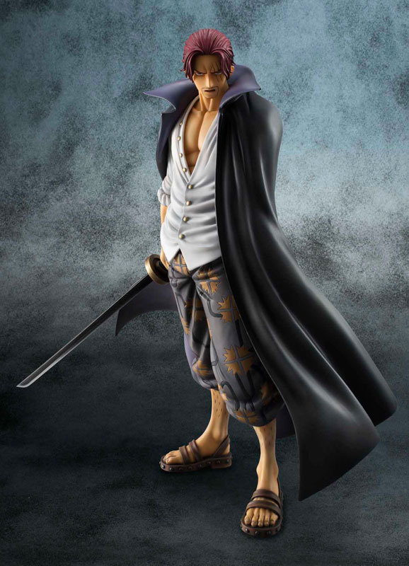 23cm Red hair Shanks Portrait Of Pirates DX Excellent Model 10th LIMITED Ver ONE PIECE complete Figure Collectible model Gift