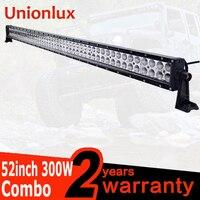 300W LED Work Light Bar 52 Inch For OffRoad Boat Car Roof Light Truck 4x4 SUV ATV Fog Lamp Combo Beam