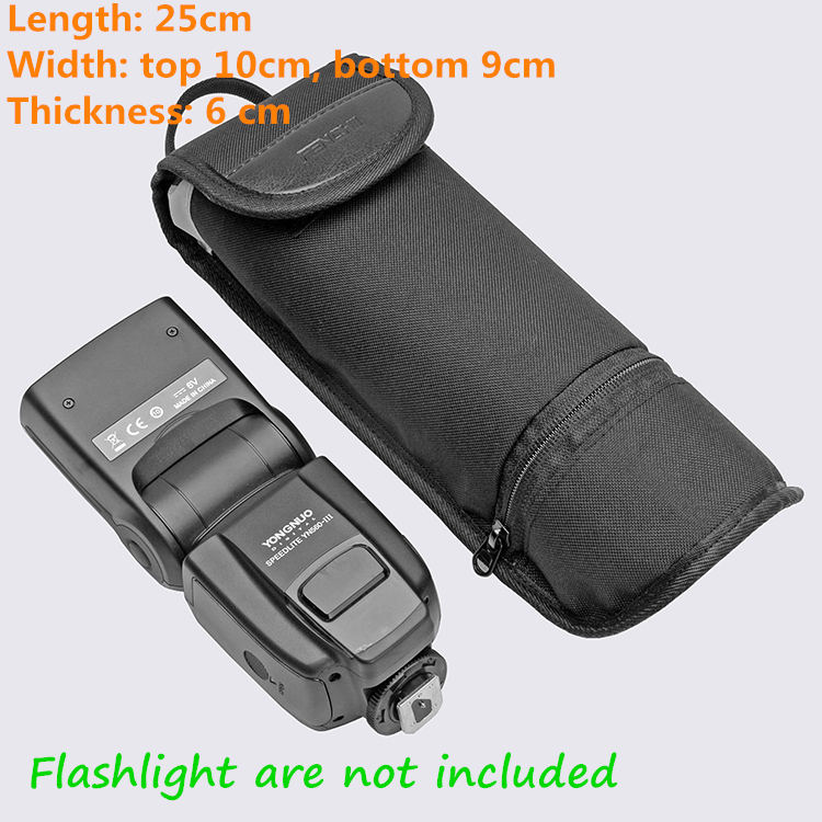 US $7 3 43% OFF Universal Two part segment design protecting bag jacket for  flash light diffusers battery camera accessories Waterproof rib fabr-in
