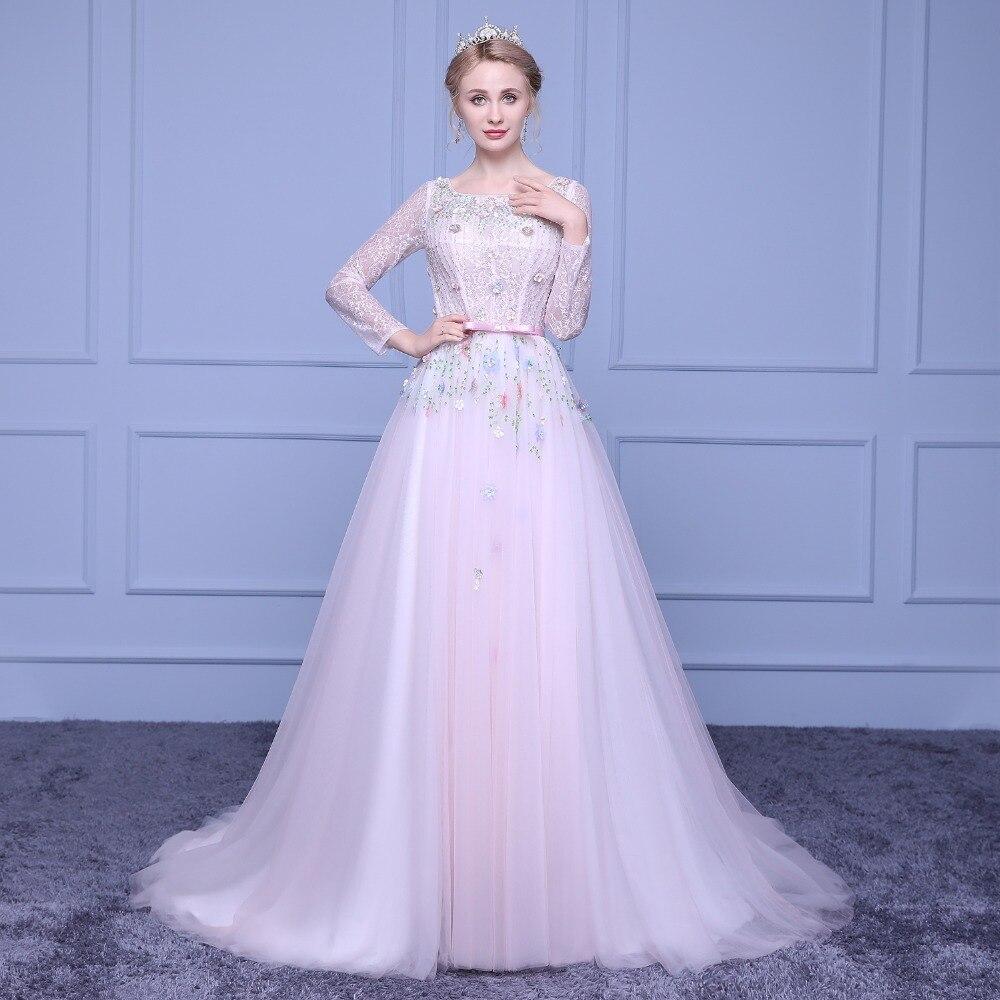 Neue ankunft spezielle rosa hochzeitskleid schmücken handgemachte ...