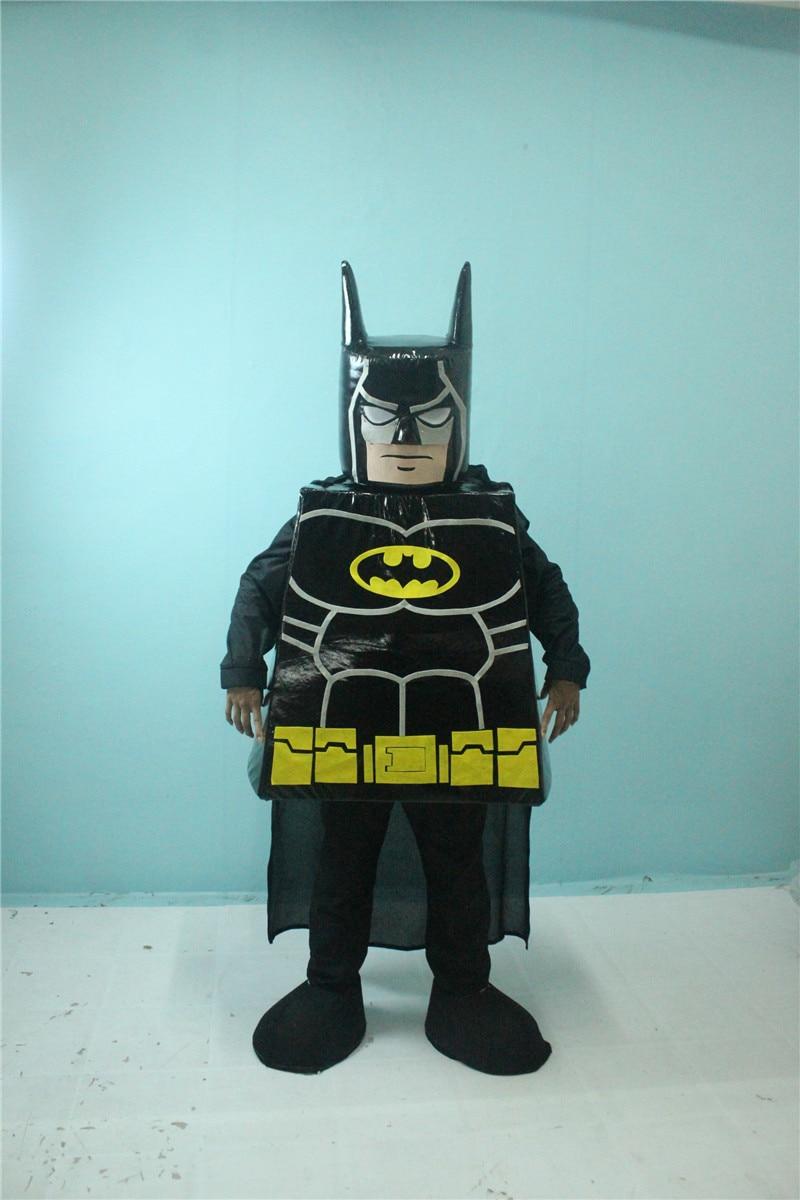 New Mascot Lego Batman Mascot costume Customize Cartoon Character Cosplay Carnival Costume Fancy Dress Mascot Kit Suit