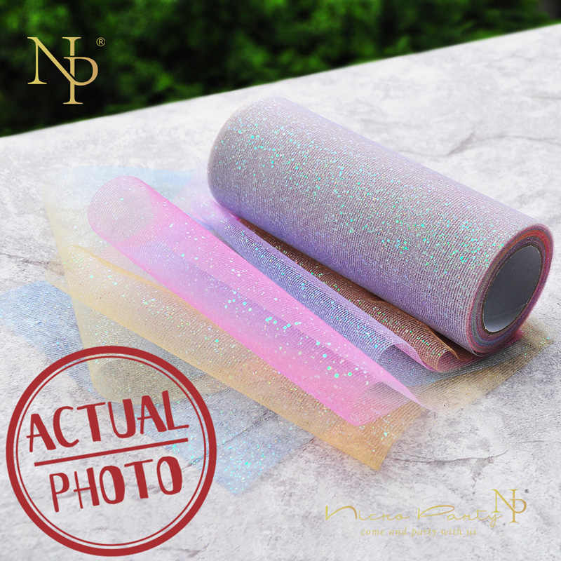 Nicro Tulle Roll 10/25/100 Yard Organza Chair Sash Bow Spool Tutu Skirt Wedding Decoration Birthday Party Christmas Baby Shower