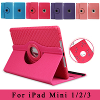 Top Quality 360 Rotating Magnetic Flip Smart Stand Cases For Ipad Mini 1 2 3 Auto
